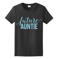 POWDER BLUE PRINT! Future Auntie, Women's T-Shirt