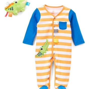 Taggies Orange Gator Footie & Toy - Infant