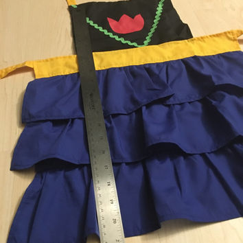 Frozen Princess Anna inspired ruffles children's kid's girl's apron costume