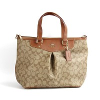 Coach Peyton Signature Pleated Tote