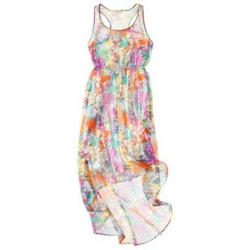 Mossimo® Petites Sleeveless Scoop Neck Maxi Dress - Assorted Prints