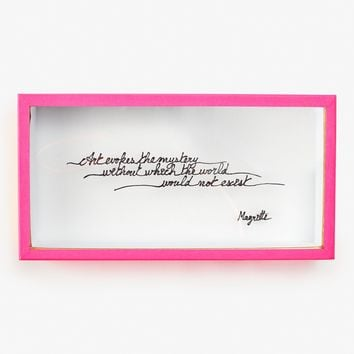 Valentine Herrenschmidt Magritte Quote Box Pink – ABC Carpet & Home