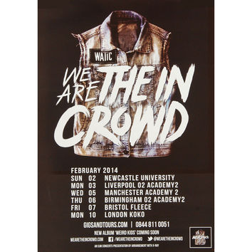 We Are The In Crowd Concert Promo Poster