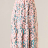 Meadow Picnic Maxi Dress - Jade and Apricot