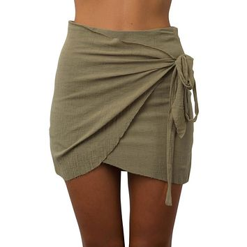 Bodycon mini boho wrap skirt ~ 5 colors!!