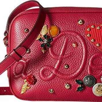 Dolce & Gabbana Womens Leather Dolce Soft Glamour Bag with Embellishment