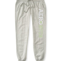 Aeropostale  Womens Aero Jogger Sweat Pants - Gray, X-Small