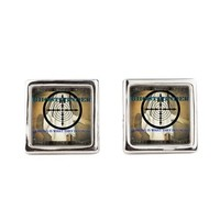 Ghost Finder By J3ll3y Square Cufflinks> Cufflinks> The Afterlife Online Clothing