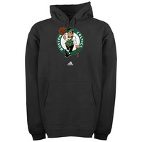 adidas Boston Celtics Logo Pullover Hoodie Sweatshirt - Black