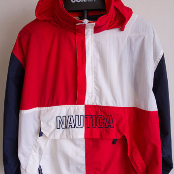 Vintage Nautica Color Block Windbreaker Sz. M