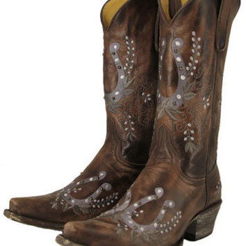 Yippee Ki Yay Chocolate Flicka Cowgirl Boot
