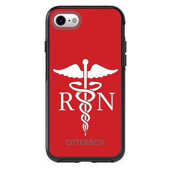 DistinctInk™ OtterBox Symmetry Series Case for Apple iPhone / Samsung Galaxy / Google Pixel - RN Registered Nurse Symbol