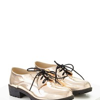 N.Y.L.A. Metallic Oxfords