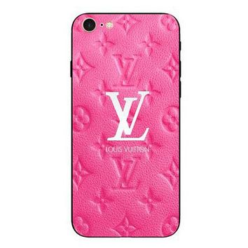 LV Popular Couple Lovely Print iPhone Phone Cover Case For iphone 6 6s 6plus 6s-plus 7 7plus iphone 8  iphone 8 plus  iphone X Rose Red I