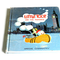 vintage Little Toot on the Thames hardcover children's book antique retro weekly reader children's book club book 1964