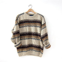 vintage boho knit sweater. cosziest sweater. Southwestern boho.