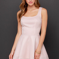 Sweeter Than Honey Blush Dress