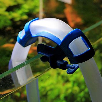 Useful Aquarium Filtration Water Pipe Filter Hose Holder For Mount Tube Fish Tank Blue Firmly Hold The Hose Assure