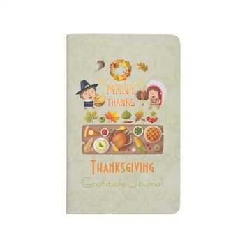 Thanksgiving Gratitude Journal on Damask Pattern