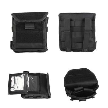 Molle Admin Magazine Pouch 1000D Nylon ID Card Holster Bag EDC Accessory Utility Pack Map Flashlight Bag
