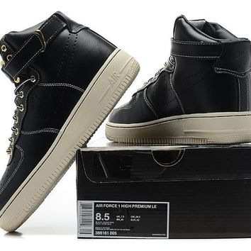 LMFON Nike Air Force 1 Mid 2018 Black For Women Men Running Sport Casual Shoes Sneakers