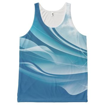 Blue Wave All-Over Print Tank Top