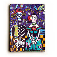 Day of the Dead by Artist Heather Diamond Wood Sign