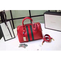 GUCCI WOMEN'S NEW STYLE LEATHER BOSTON HANDBAG SHOULDER BAG