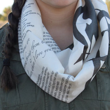 The Hunger Games book scarf