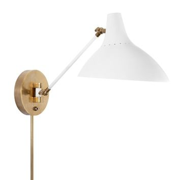 AERIN Charlton Sconce, Antique Brass