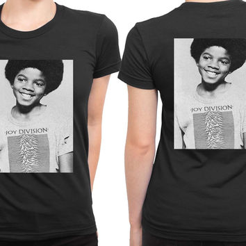 Michael Jackson Boy Use Joy Division Tee 2 Sided Womens T Shirt