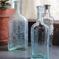 Vintage Pharmacy Bottle Collection | Bohemian Home Decor: Bomisch