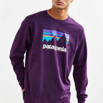 Patagonia Shop Sticker Long-Sleeve Tee - Urban Outfitters