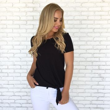 Nicole Tie Top in Black