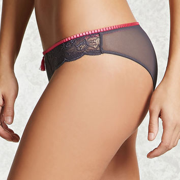 Tasseled Lace Cheeky Panty