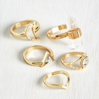 Satellite of My Life Ring Set | Mod Retro Vintage Rings | ModCloth.com