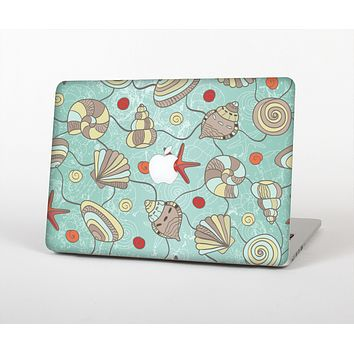 """The Teal Vintage Seashell Pattern Skin for the Apple MacBook Air 13"""""""