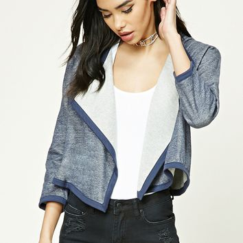 Marled Draped Front Cardigan