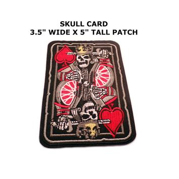 Biker Harley-Davidson Skull Playing Card Iron or Sew-on Patch
