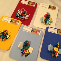 Autism Awareness hair clips for girls PLEASE HELP by KaitsHairWear