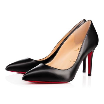 Best Online Sale Christian Louboutin Cl Pigalle Black Leather 85mm Stiletto Heel
