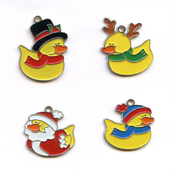Christmas Duck Charms