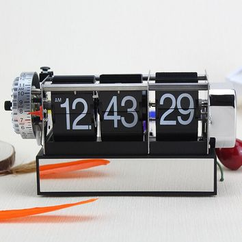 Flip Clock Antique Retro Style