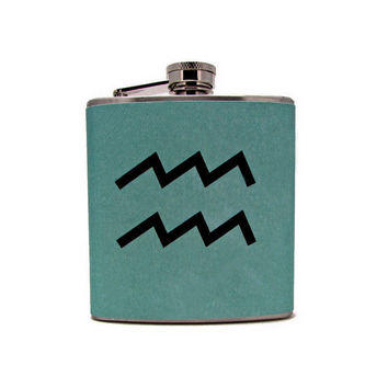 Aquarius Flask by thehairofthedog on Etsy