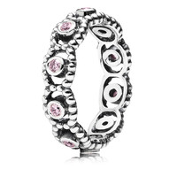 Pandora Her Majesty with Pink CZ Ring