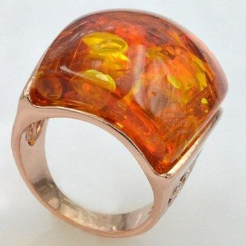 Vintage Faux Opal Ring For Men - Red One-size