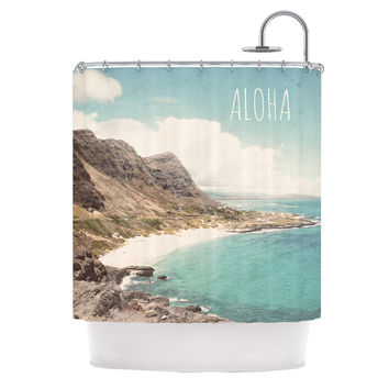 "Nastasia Cook ""Aloha"" Mountain Beach Shower Curtain"