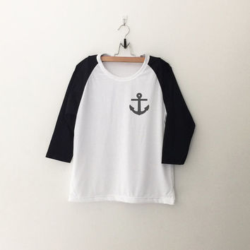 Nautical anchor sweatshirt T-Shirt tee womens girls teens unisex grunge tumblr quote slogan instagram blogger punk hipster gifts merch