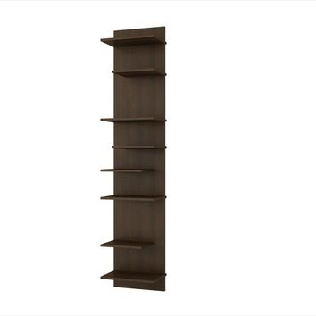 Manhattan Comfort Captivating Nelson Floating Shelf Panel with 8 Shelves