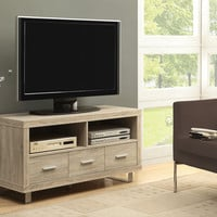 """Tv Stand - 48""""L / Natural With 3 Drawers"""